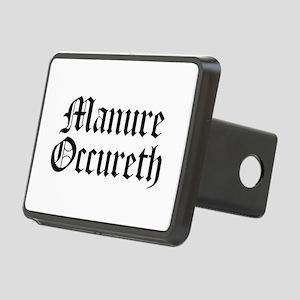 Manure Occureth Rectangular Hitch Cover