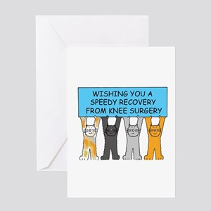 Knee surgery speedy recovery Greeting Cards