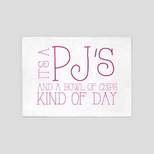 Its a PJs and a bowl of chips kind of day! 5'x7'Ar