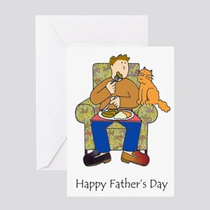 Happy Father's Day for cat love Greeting Cards