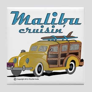 Malibu Cruisin Mug Tile Coaster