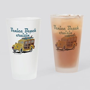 Venice Beach Cruisin Drinking Glass