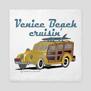 Venice Beach Cruisin Queen Duvet