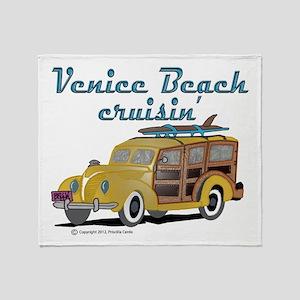 Venice Beach Cruisin Throw Blanket