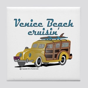 Venice Beach Cruisin Tile Coaster