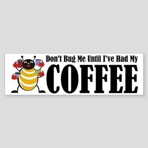 Coffee Bug Bumper Sticker