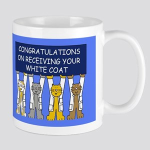 White coat Congratulations. Mugs