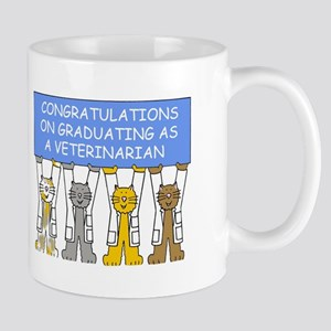 Veterinarian graduate congratulations. Mugs