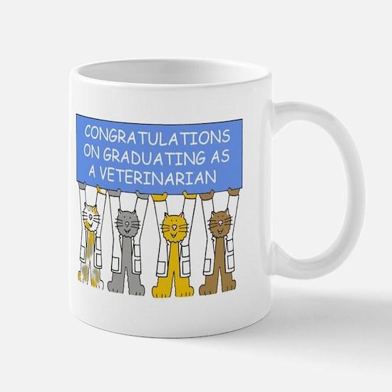 Veterinarian graduate congratulations. Mugs