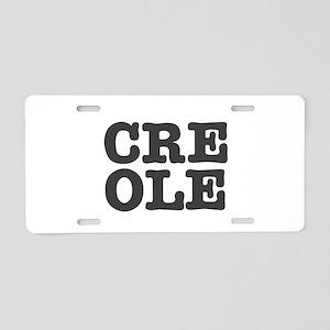 CREOLE Aluminum License Plate