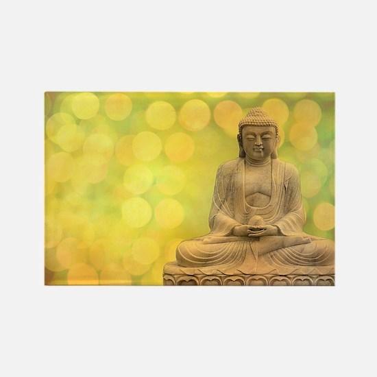 buddha - Erleuchtung - gelb Rectangle Magnet