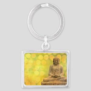 buddha - Erleuchtung - gelb Landscape Keychain
