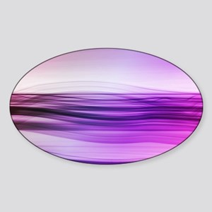 flow - violet Sticker (Oval)
