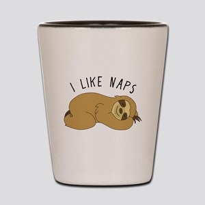 I Like Naps - Napping Sloth Shot Glass