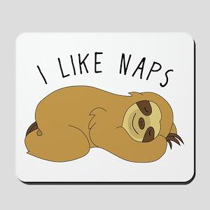I Like Naps - Napping Sloth Mousepad