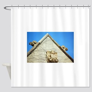 Abbey building Shower Curtain