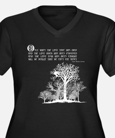 Native American Proverb Women's Plus Size V-Neck D