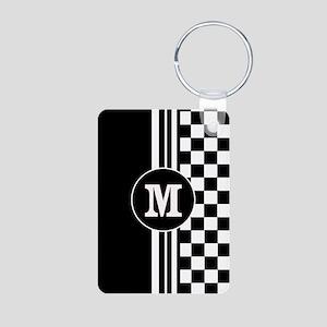 Monogrammed Stylish designer Stripes and checks Ke