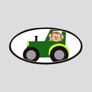 Monkey Driving Tractor Patches