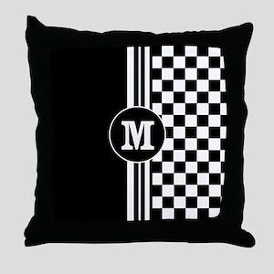 Monogrammed Stylish designer Stripes and checks Th
