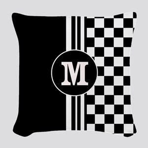 Monogrammed Stylish designer Stripes and checks Wo