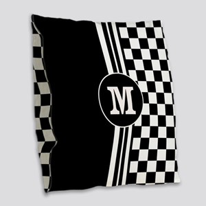 Monogrammed Stylish designer Stripes and checks Bu