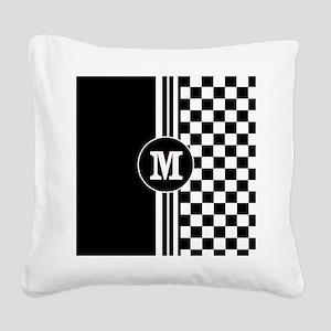 Monogrammed Stylish designer Stripes and checks Sq