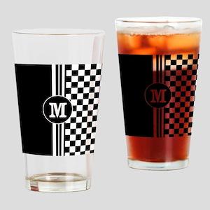 Monogrammed Stylish designer Stripes and checks Dr