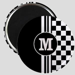 Monogrammed Stylish designer Stripes and checks Ma