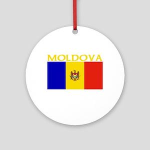Moldova Flag II (Dark) Ornament (Round)