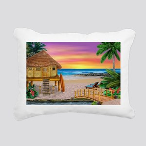 MY LITTLE GRASS SHACK Rectangular Canvas Pillow
