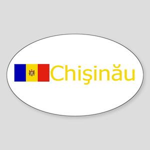 Chisinau, Moldova Oval Sticker