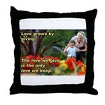 Love Grows Throw Pillow