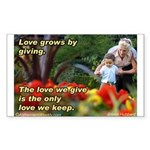 Love Grows Sticker (Rectangle 10 pk)