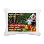 Love Grows Rectangular Canvas Pillow