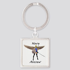 Navy Aircrew Square Keychain