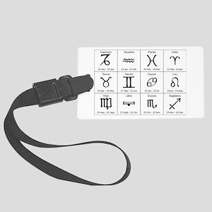 zodiac Large Luggage Tag