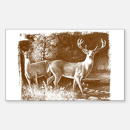 Wildlife Deers Rectangle Decal
