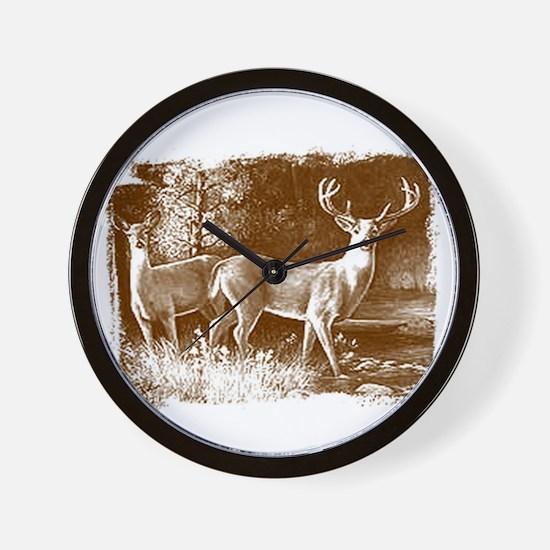 Wildlife Deers Wall Clock
