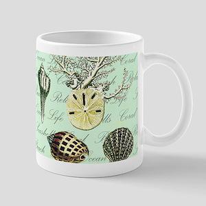 modern vintage french seashells Mugs