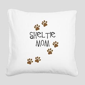 Sheltie Mom Square Canvas Pillow