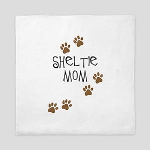 Sheltie Mom Queen Duvet