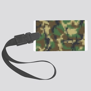 Digital Pixel Camouflage Pattern Luggage Tag