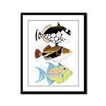 3 Triggerfish Framed Panel Print