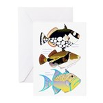 3 Triggerfish Greeting Cards