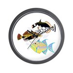 3 Triggerfish Wall Clock