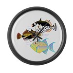 3 Triggerfish Large Wall Clock