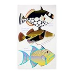 3 Triggerfish 3'x5' Area Rug