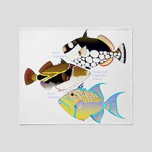 3 Triggerfish Throw Blanket