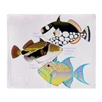 3 Triggerfish Throw Blanket
